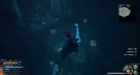 The High Seas / Sandbar Isle: On the island, in a cave in the pool of water.