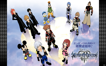 Kingdom Hearts III manga promotional wallpaper KHIII.png