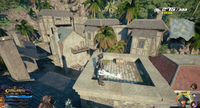 Port Royal / Settlement: On the roof of a building.