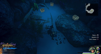 The High Seas / Isla de los Mástiles: From the Save, head South to the climbable wall. Wall-run up and then wall-run up the following wall. Continue until the pool of water, then dive in.