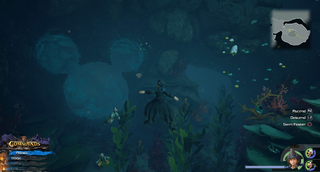 The High Seas / Sandbar Isle: Travel to the island across the stone pillars and head East to the pool of water. Dive into the water to find the emblem carved out of the wall.