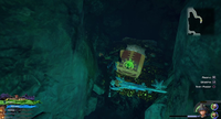 The High Seas / Undersea Cavern: From the Save, head North. At the fork continue North and at the second fork head East.